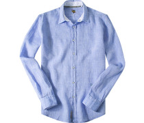 Leinenhemd hellblau meliert