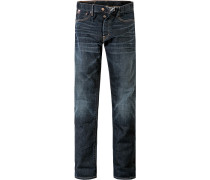 Blue-Jeans Skinny Fit Baumwoll-Stretch dunkelblau