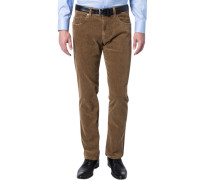 Cord-Jeans Regular Fit Baumwoll-Stretch camel