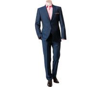 Herren Anzug Shape Fit Schurwolle Super100 Angelico dunkelblau meliert