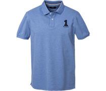 Polo-Hemd, Classic Fit, Baumwoll-Piqué, meliert