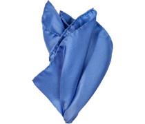 Herren  Einstecktuch Seide jeansblau