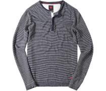 Pullover, Leinen, marineblau-weiß gestreift