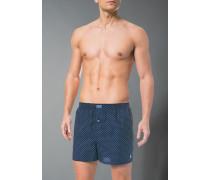 Unterwäsche Boxershorts Baumwolle dunkelblau gemustert
