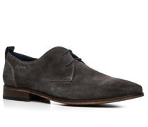 Herren Schuhe Derby Veloursleder dunkelgrau grau,blau