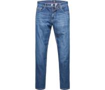 Blue-Jeans, Modern Fit, Baumwoll-Stretch, denim
