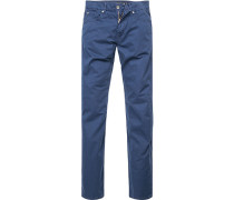 Jeans, Regular Fit, Baumwoll-Stretch, navy