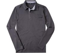 Polo-Shirt Baumwoll-Jersey gemustert