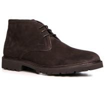 Schuhe Stiefeletten Veloursleder kaffeebraun