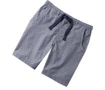 Schlafanzug Pyjamashorts Baumwolle navy gemustert