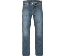 Herren Jeans Comfort Fit Baumwoll-Stretch denim blau