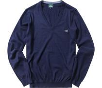 Pullover, Schurwolle, dunkelblau