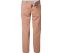 Hose Chino Modern Fit Baumwolle orangebraun