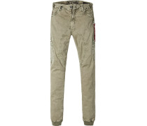 Hose Cargohose, Slim Fit, Baumwoll-Stretch