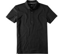 Polo-Shirt Polo Slim Fit Baumwoll-Jersey meliert