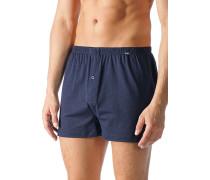 Herren Unterwäsche Boxer-Shorts Baumwoll-Stretch nachtblau-rot gepunktet