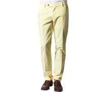 Hose Flat Front, Baumwolle,