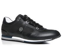 Herren Schuhe Sneaker Leder-Nylon-Mix schwarz schwarz,weiß