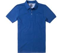 Herren Polo-Shirt Polo Baumwoll-Piqué saphirblau