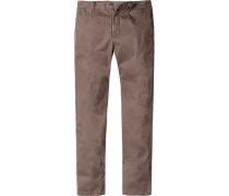 Hose Modern Slim Fit Baumwolle schilfgrün