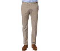 Chino-Hose, Regular Fit, Baumwolle, sand