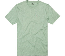 T-Shirt Regular Fit Baumwolle mint meliert