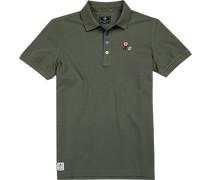 Polo-Hemd Baumwoll-Piqué khaki