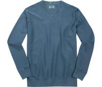 Pullover, Baumwolle, jeansblau