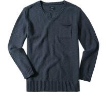 Pullover Baumwolle tintenblau