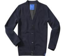 Herren Sweat-Cardigan Baumwoll-Mix navy blau
