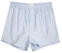 Herren Unterwäsche Boxer-Shorts Popeline bleu-weiß gestreift blau