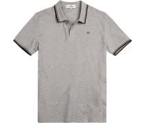Polo-Shirt Regular Fit Baumwoll-Piqué meliert