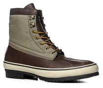 Schuhe Schnürstiefeletten Leder-Nylon -grau