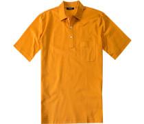Herren Polo-Shirt Polo Slim Fit Baumwoll-Piqué maisgelb