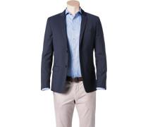Herren Sakko Fitted Wolle Super100 nachtblau