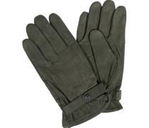 Herren  Handschuhe Nubukleder olivgrün
