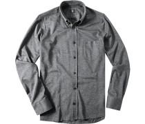 Hemd Modern Fit Baumwoll-Jersey meliert