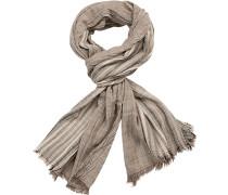 Schal Baumwolle -grau gestreift