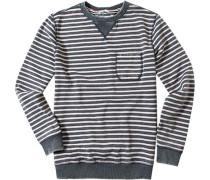 Sweater Baumwolle jeansblau-hellrosé