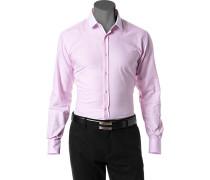 Hemd, Slim Fit, Baumwolle, rosa