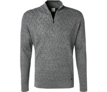 Pullover Troyer, Wolle, grau meliert