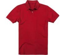 Polo-Shirt Polo Baumwolle bordeaux