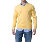 Herren Pullover Baumwolle gelb meliert