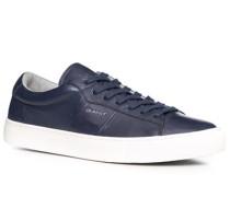 Herren Schuhe Sneaker Leder marine blau,grau