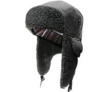 Herren   Mütze Baumwolle warm gefüttert schwarz
