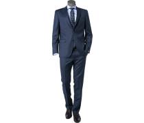 Anzug, Modern Fit, Schurwolle Super110 REDA, dunkelblau meliert