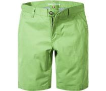 Herren Hose Shorts Baumwolle lindgrün