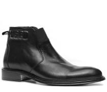 Herren Schuhe Stiefeletten Kalbnappa schwarz