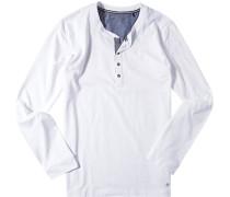 Schlafanzug Pyjama-Oberteil, Baumwolle,