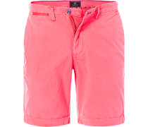 Hose Bermudashorts Regular Fit Baumwolle neon pink